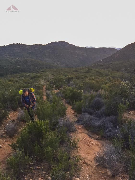 DigDoug heading up the trail