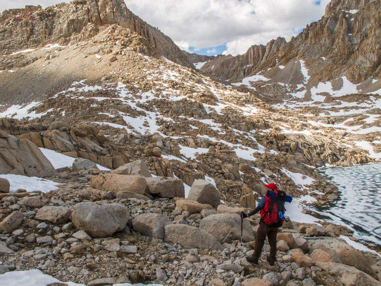 The PD on challenging day on the way to Mount Whitney in 2010