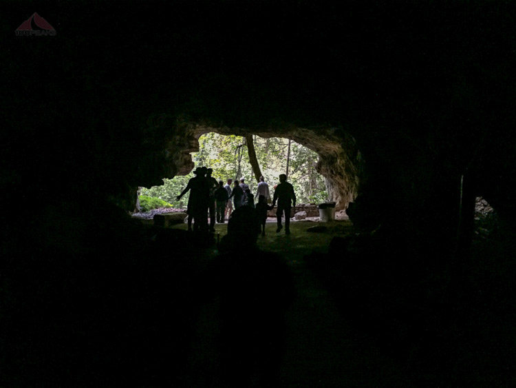 Looking out the entrance to Crystal Cave