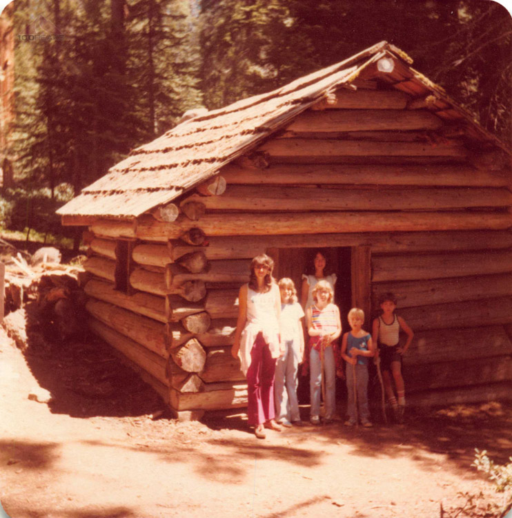 My first trip to Sequoia National Park -  Age 6 in 1978 at Squatters Cabin