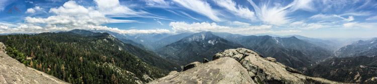 Paoramic View from Moro Rock in Sequoia National Park