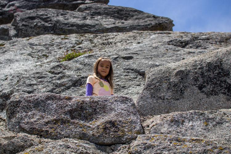 Soph, hiking up Moro Rock