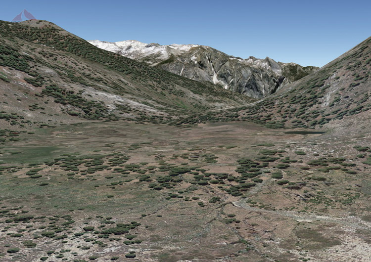 Google Earth version of Blue Canyon Meadow