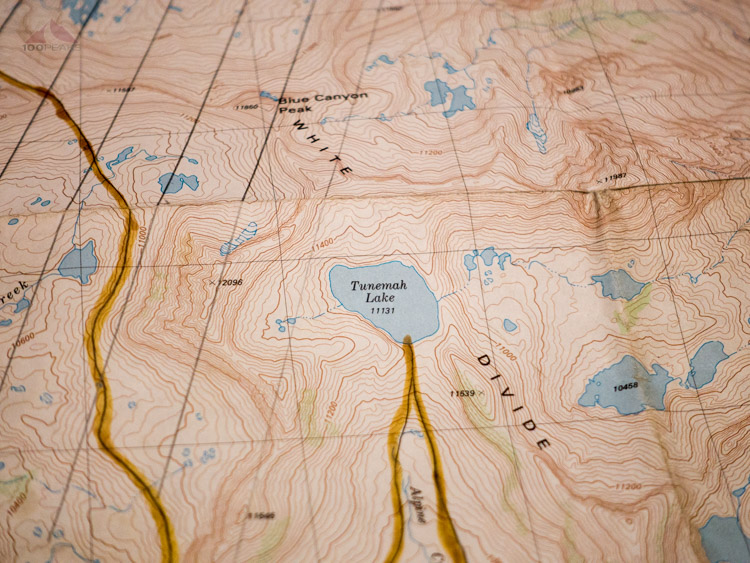 28-year-old Map of the Tunemah Trail