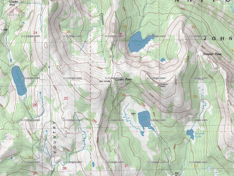 Crown Pass Map