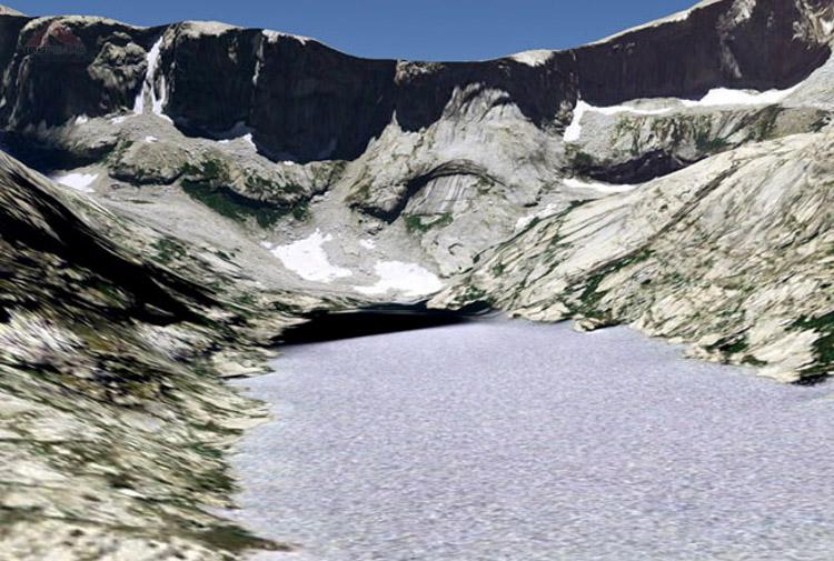 Big Bird Lake from Google Earth