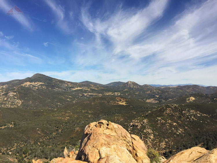 Japacha, Cuyamaca, Middle, North, and Stonewall Peaks from Oakzanita Peak