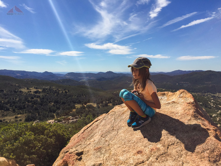 Soph, enjoying the view from the top of Oakzanita Peak
