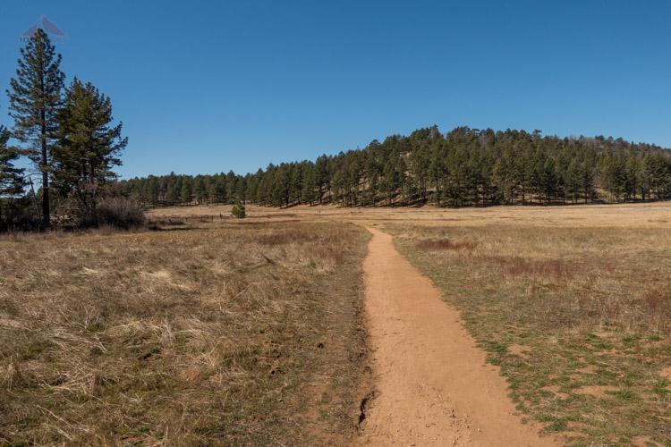 The trail to Laguna Meadow