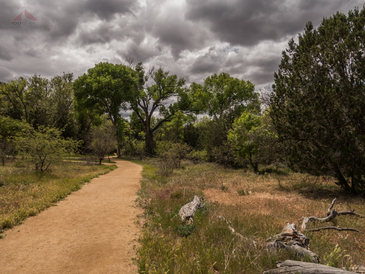 A pleasant trail at the V-bar-V Heritage Site