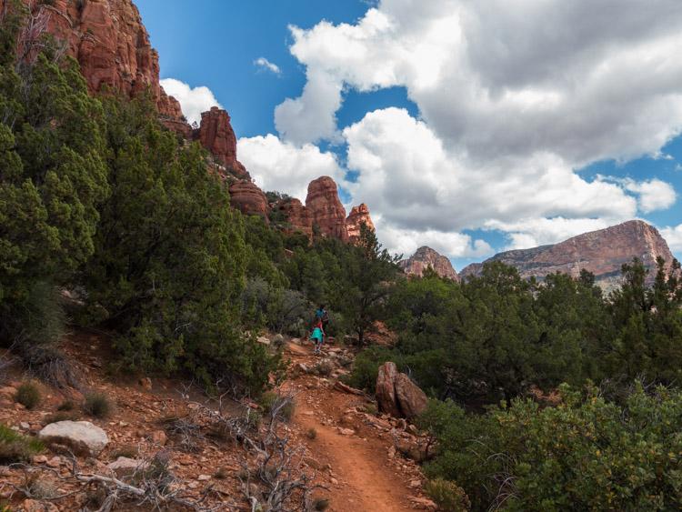 Hiking upward on the Chapel Trail