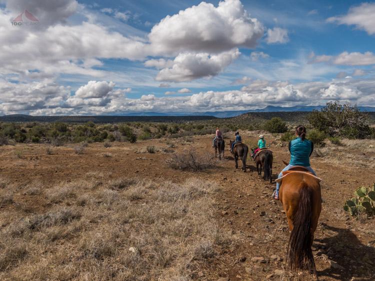 Horseback riding at M Diamond Ranch in Sedona