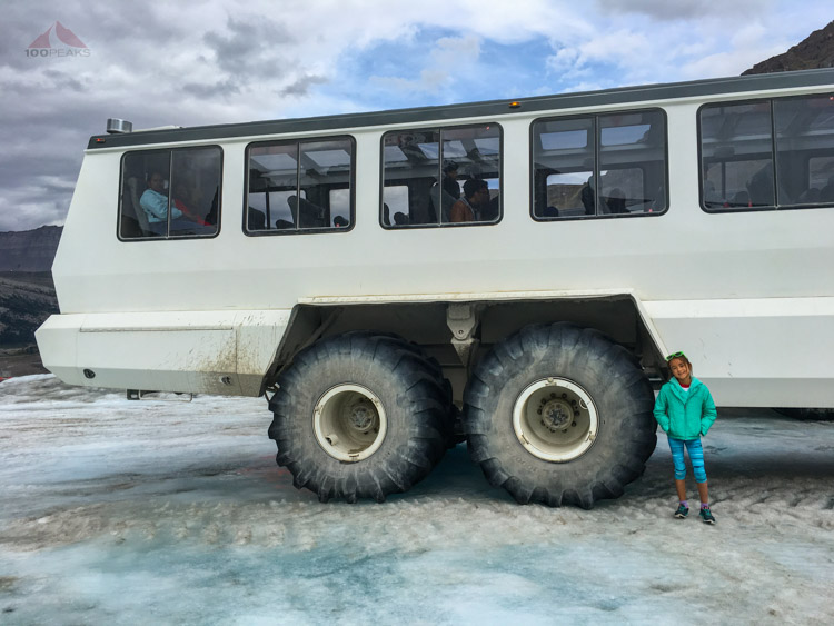The huge shuttle up to Athabasca Glacier