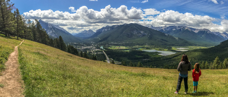 The town of Banff from Mount Norquay