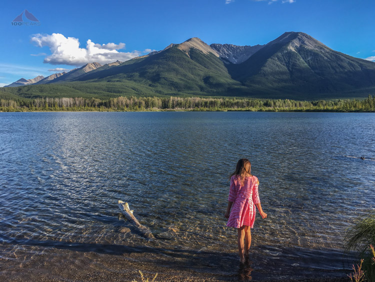 Our last moments in Banff, at Vermilion Lakes