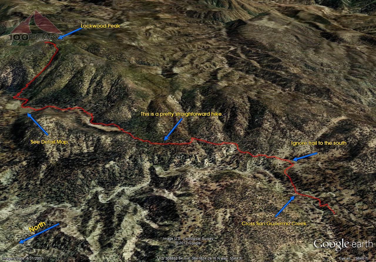 Lockwood Peak Trail Map