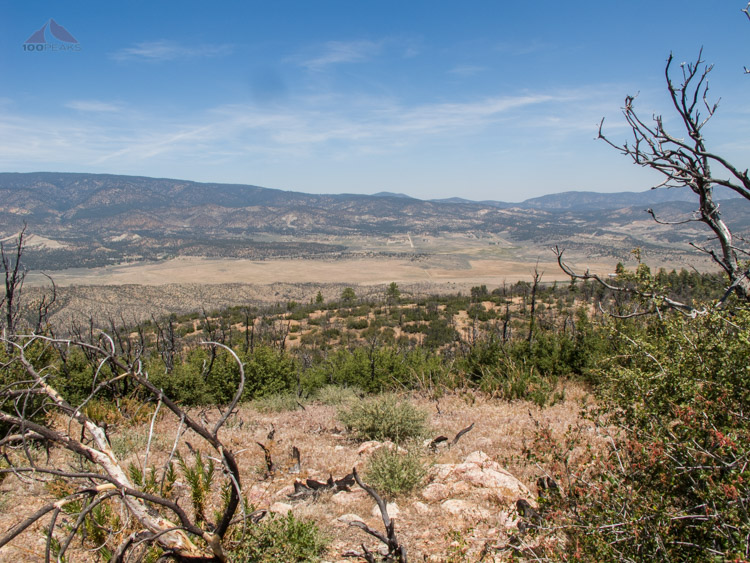 The view into Lockwood Valley from Lockwood Peak