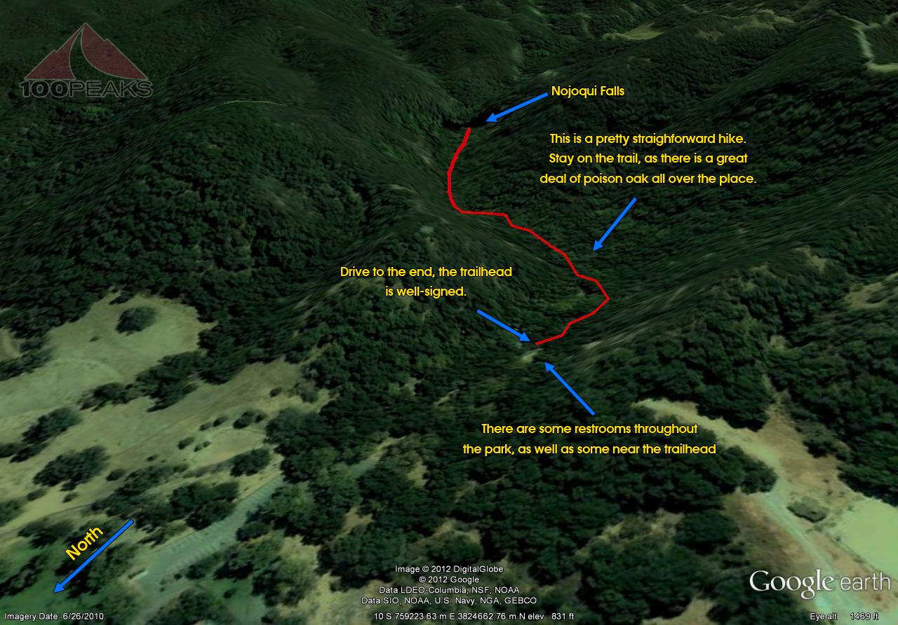 Nojoqui Falls Trail Map
