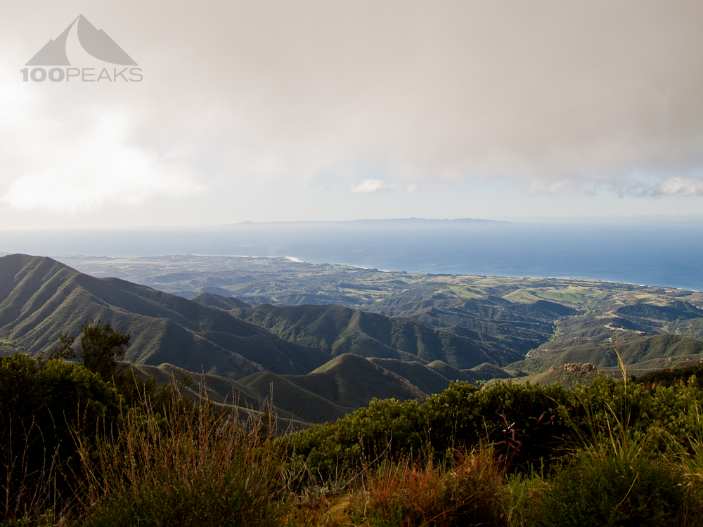 View of the Santa Barbara Coast from West Camino Cielo