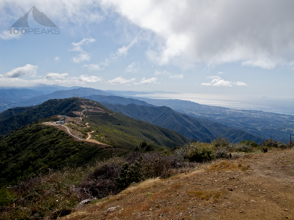 Broadcast Peak from Santa Ynez Peak