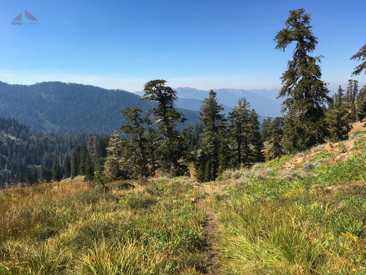 The trail along the eastern edge of Middle Boulder Lake drainage
