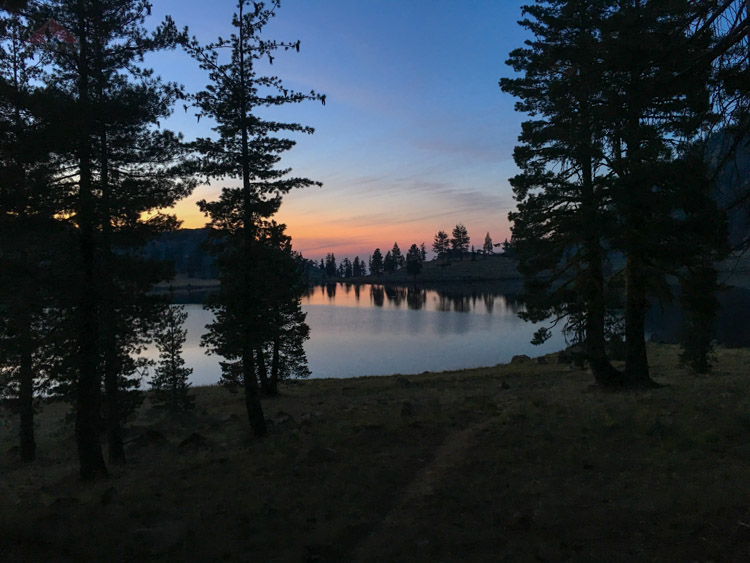 Sunset from our campsite at East Boulder Lake