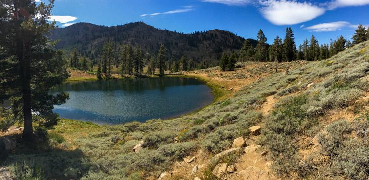 Climbing up beyond Upper Boulder Lake