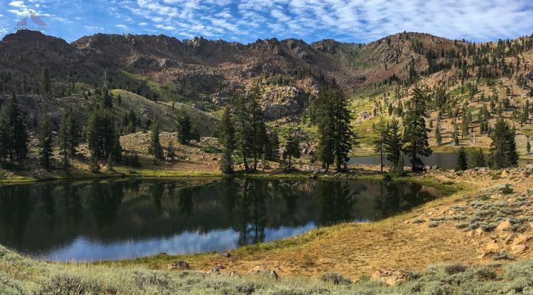 Back along upper boulder lake