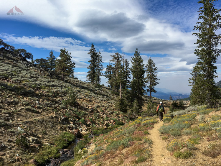 Headed out along Boulder Creek