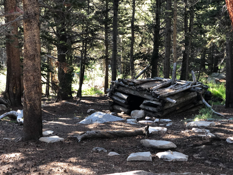 Fallen cabin along the Old Cottonwood Trail
