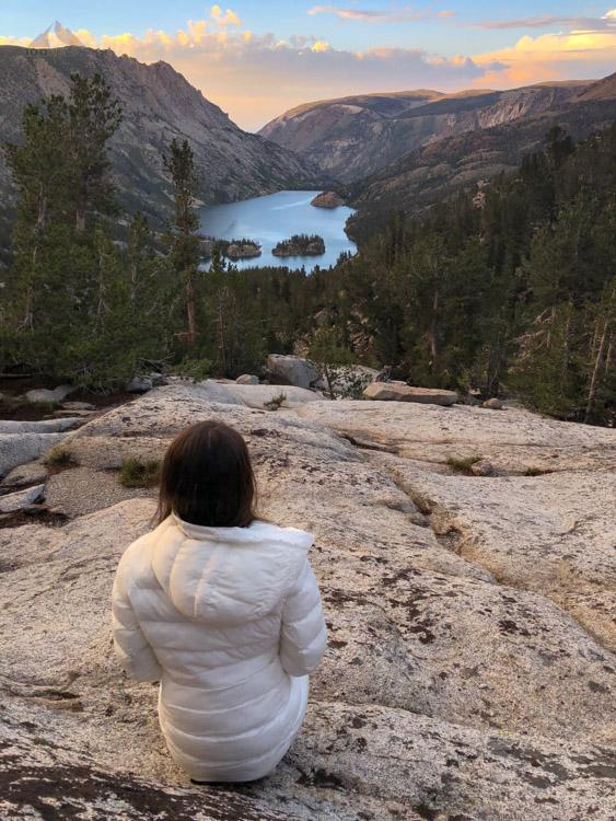 Enjoying the view of South Lake