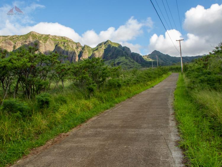 Kamalleunu Ridge from Waianae Valley - to Mount Ka'ala