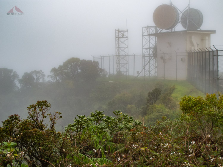 Foggy view from Mount Ka'ala