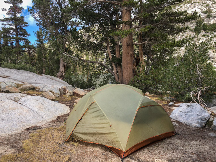 At the Treasure Lakes in the Sierra, 2018. My 9-year-old tent would leak in a few hours