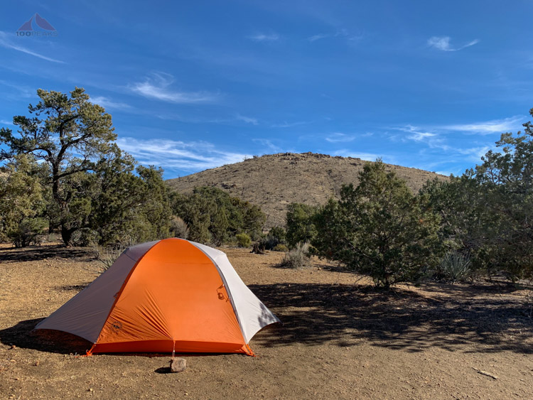 Shiny new tent in the Mojave Desert, 2019