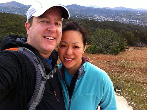 The two of us on Van Dam Peak, Happy New Year