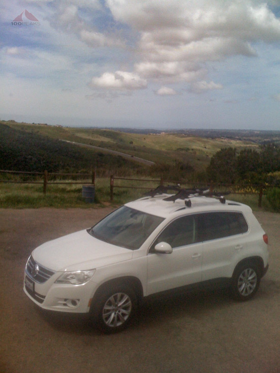 April 2009: My Tiguan, then my trailhead car, shot on original iPhone
