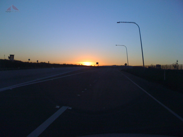 Driving to Gut Check FItness at dawn, my first week as a member