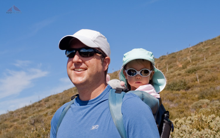 Sophia and I heading up Garnet Peak in 2009