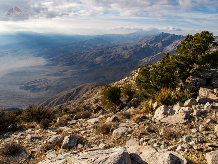 Looking down to Clark Valley with Rabbit Peak in the distance