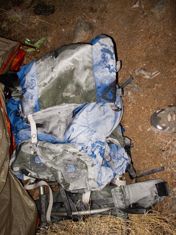 Frosty backpack on Villager Peak