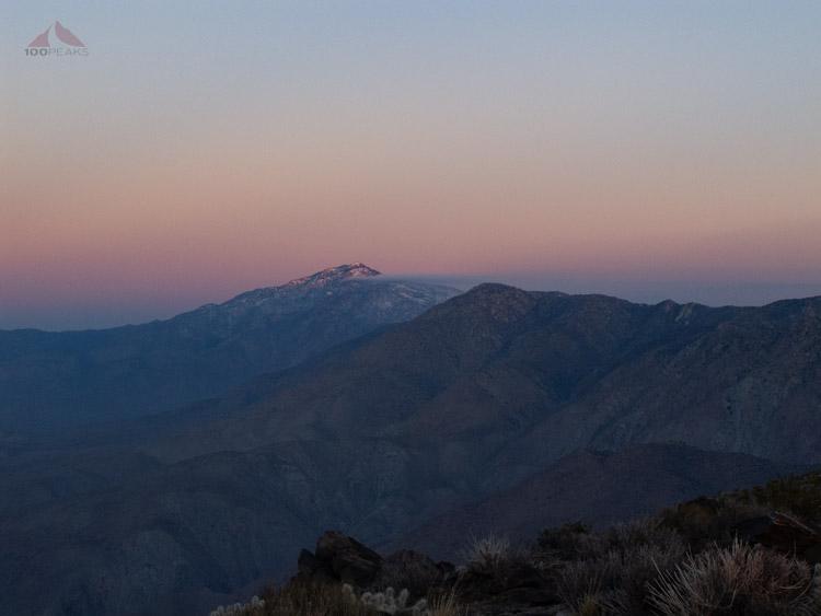 Toro Peak on the way to Rabbit Peak