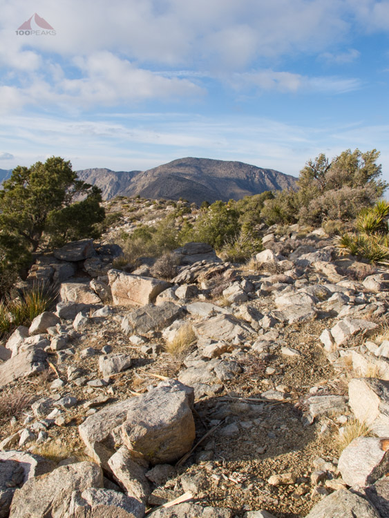 The rugged trail to Villager Peak