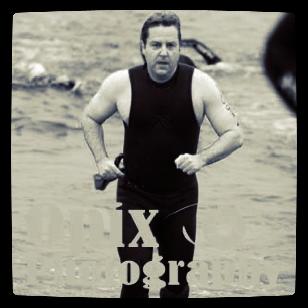 Coming out of the water at the Mission Bay Triathlon last year