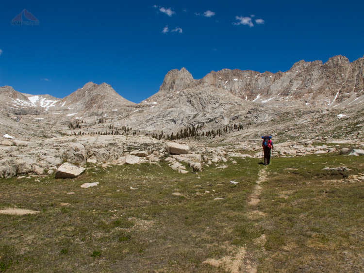Heading towards the Granite Giants of Miter Basin