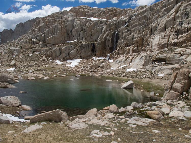 Waterfall and Tarn above Sky Blue Lake