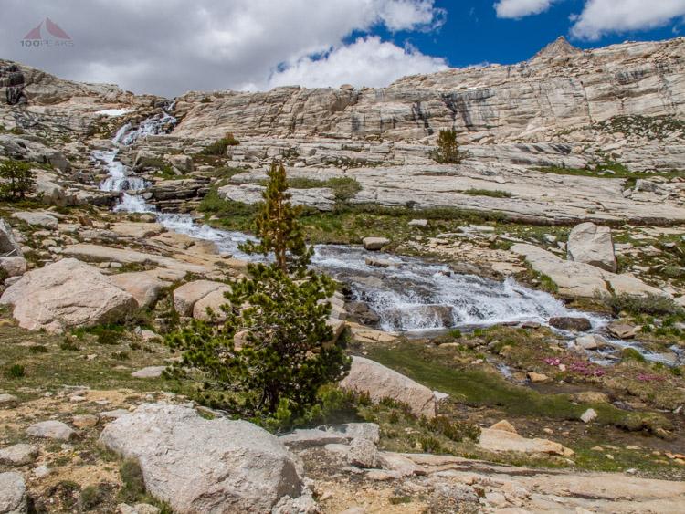 The Waterfalls below Sky Blue Lake