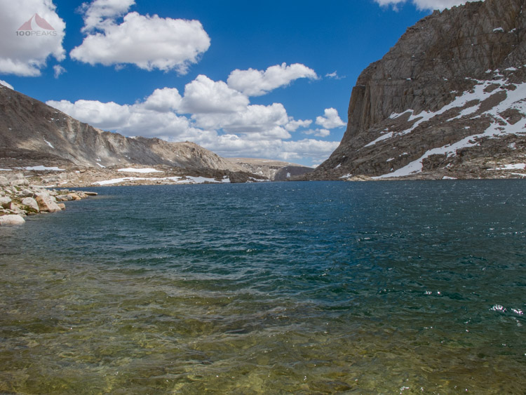 The Choppy Waters of Sky Blue Lake, Looking South from where we came