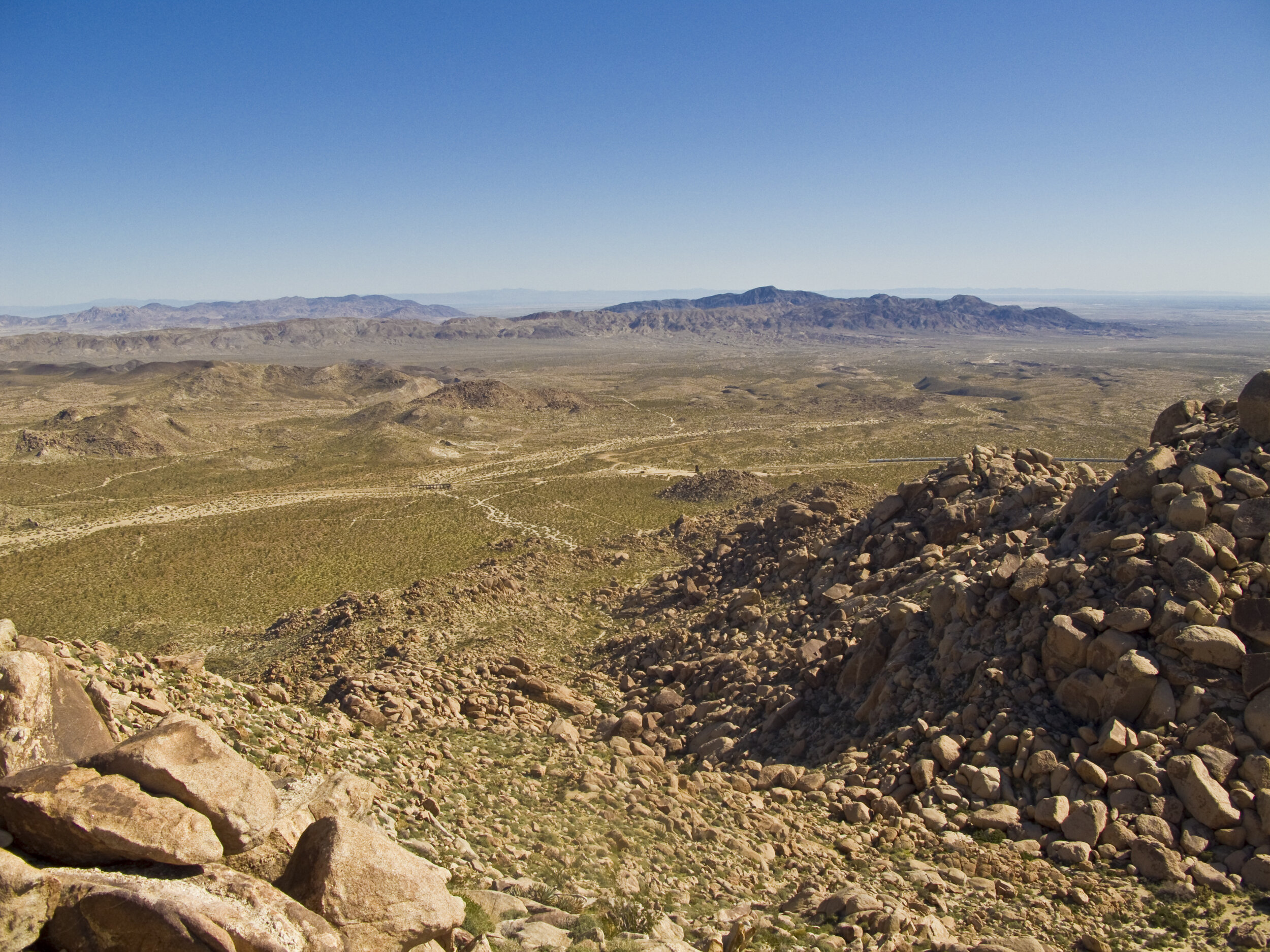 View of Dos Cabezas with Carrizo Mountain in the Distance From Piedras Grandes