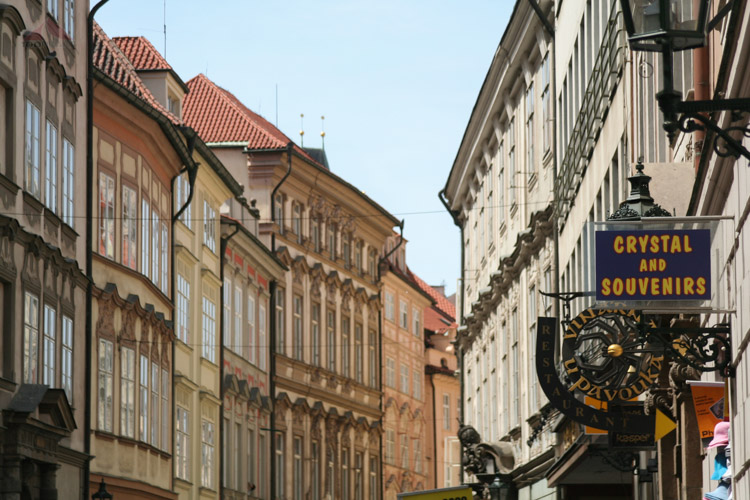 Street leading to Old Town Square